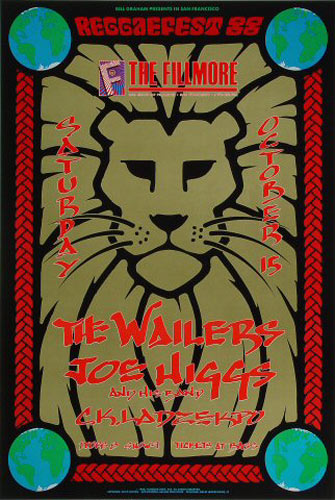 The Wailers New Fillmore Poster F56