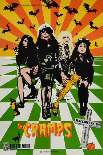 The Cramps New Fillmore F61 Poster