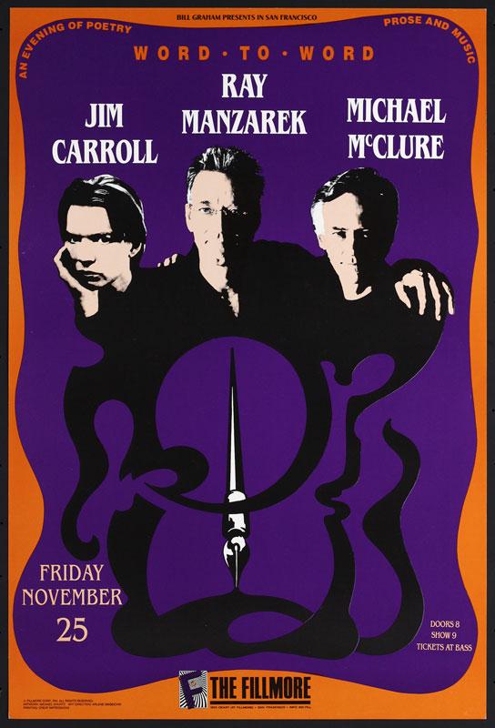 Jim Carrol New Fillmore Poster F64