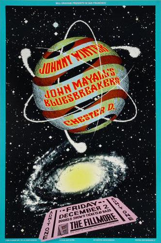 Johnny Winter New Fillmore Poster F65