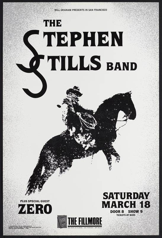 Stephen Stills New Fillmore Poster F83