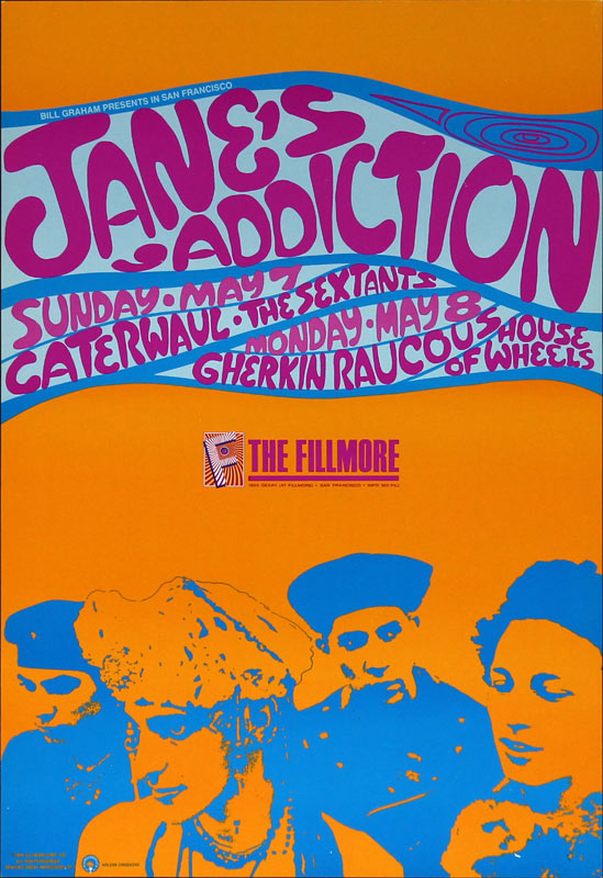 Jane's Addiction New Fillmore Poster F95