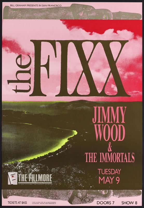The Fixx New Fillmore Poster F96
