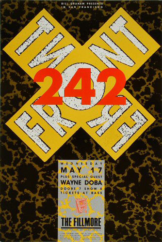 Front 242 New Fillmore Poster F99