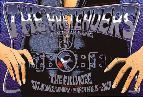 The Pretenders New Fillmore Poster F1000