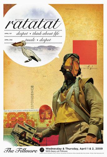 Ratatat New Fillmore F1004 Poster