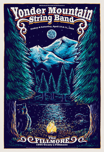 Yonder Mountain String Band New Fillmore Poster F1005