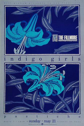 Indigo Girls New Fillmore F101 Poster