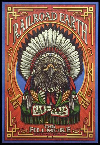 Railroad Earth New Fillmore F1011 Poster