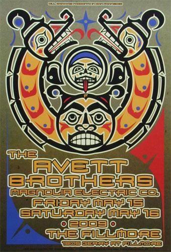 Avett Brothers New Fillmore F1012 Poster