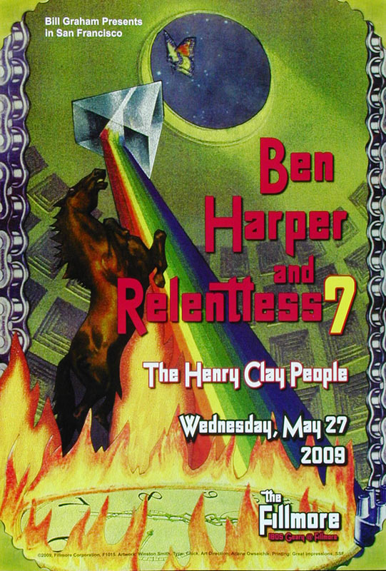 Ben Harper New Fillmore F1015 Poster