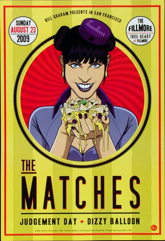 The Matches New Fillmore F1022 Poster