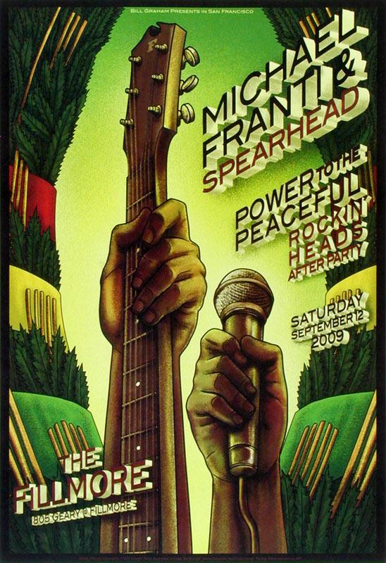 Michael Franti & Spearhead New Fillmore F1023 Poster