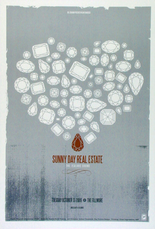Sunny Day Real Estate New Fillmore F1027 Poster