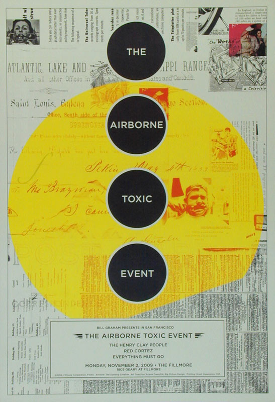 The Airborne Toxic Event New Fillmore F1030 Poster