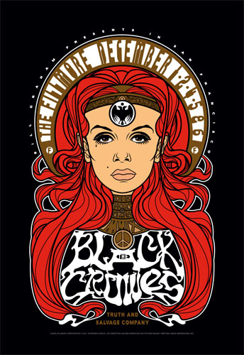 The Black Crowes New Fillmore F1033 Poster