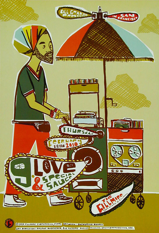 G. Love and Special Sauce New Fillmore F1041 Poster