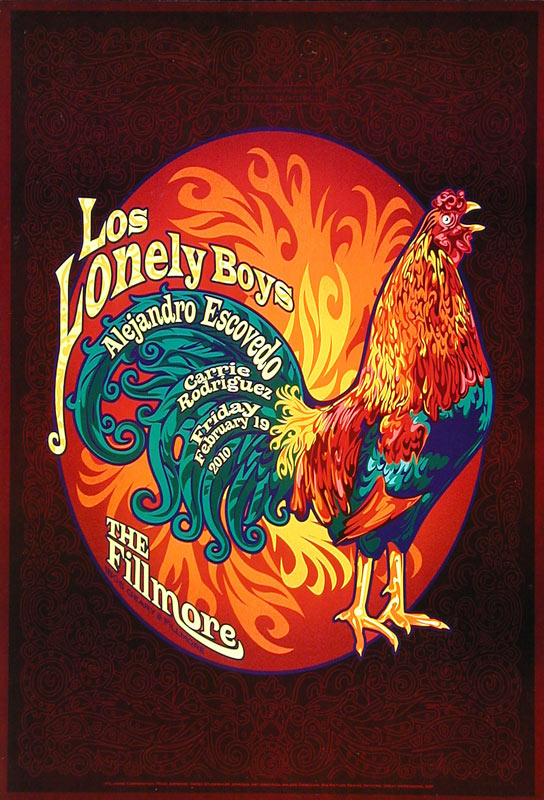 Los Lonely Boys New Fillmore F1042 Poster