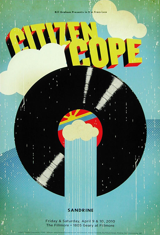 Citizen Cope New Fillmore F1049 Poster