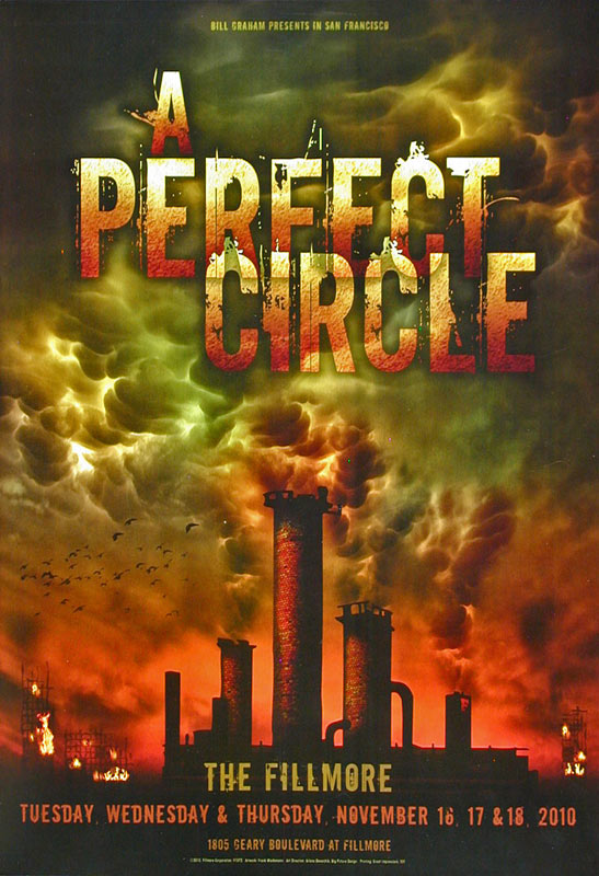 A Perfect Circle New Fillmore Poster F1072
