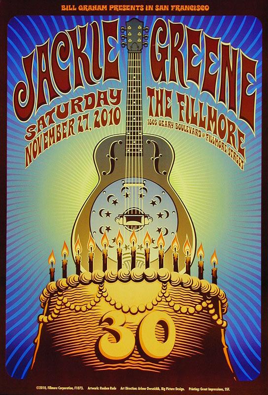 Jackie Greene 2010 Fillmore F1073 Poster