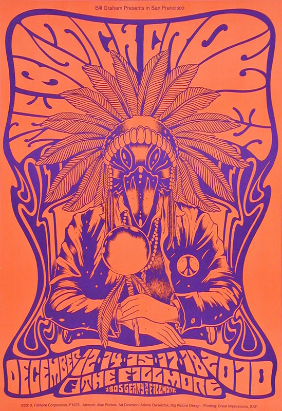 The Black Crowes New Fillmore F1075P Poster