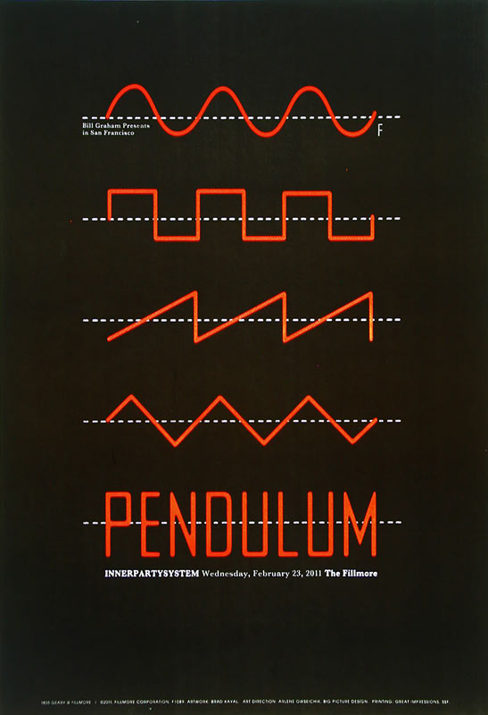 Pendulum New Fillmore F1089 Poster