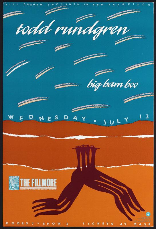 Todd Rundgren New Fillmore F109 Poster