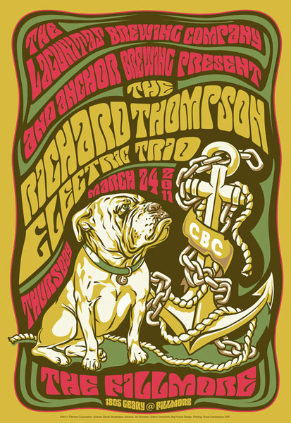 The Richard Thompson Electric Trio New Fillmore F1091A Poster