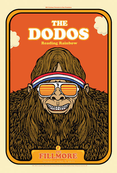 The Dodos New Fillmore F1093 Poster