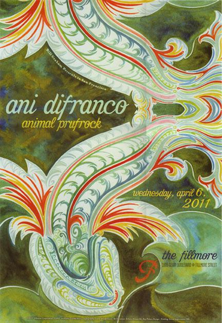 Ani DiFranco 2011 Fillmore F1094 Poster