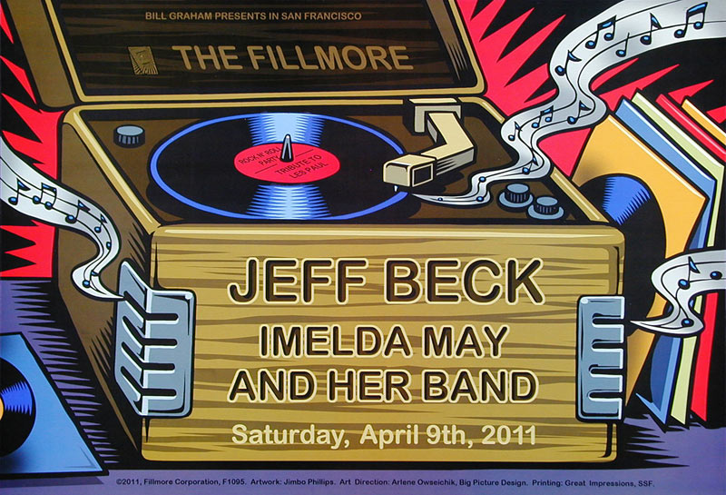 Jeff Beck New Fillmore Poster F1095