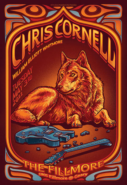 Chris Cornell New Fillmore Poster F1102