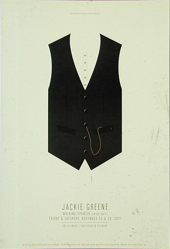 Jackie Greene 2011 Fillmore F1129 Poster