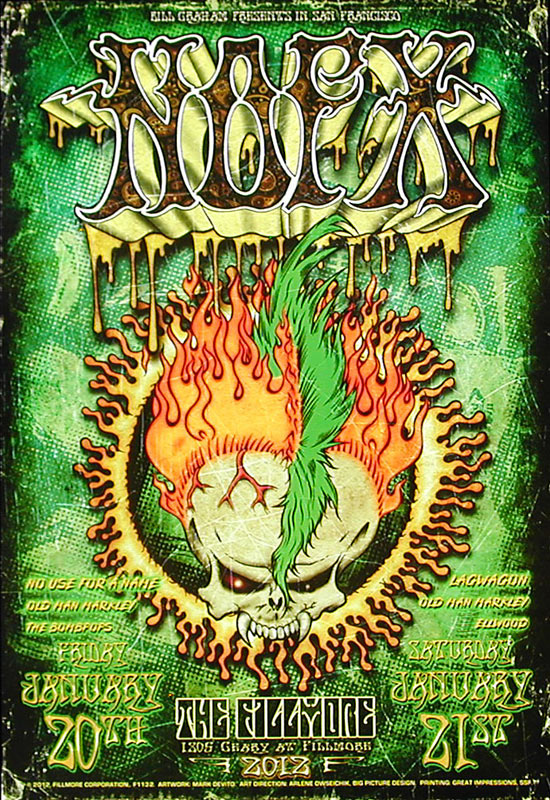 NOFX New Fillmore F1132 Poster