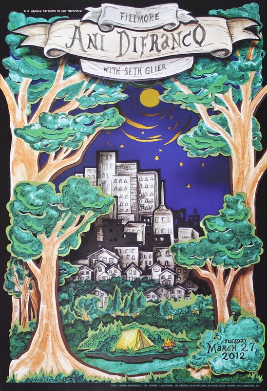 Ani DiFranco 2012 Fillmore F1150 Poster