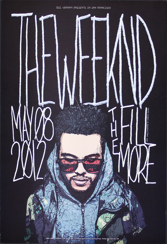 The Weeknd New Fillmore Poster F1164 The Weeknd  Artist Drop