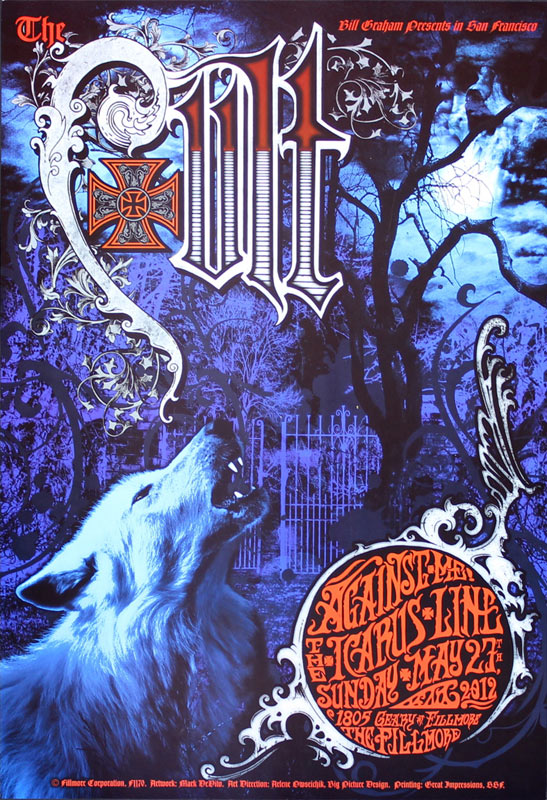 The Cult 2012 Fillmore F1170 Poster
