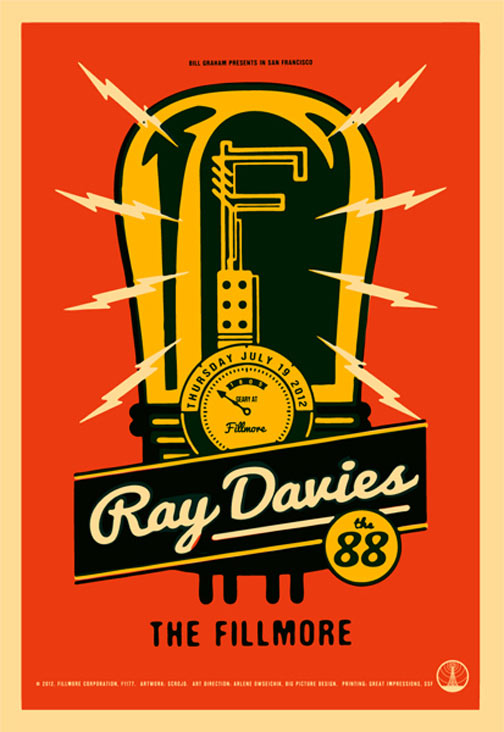 Ray Davies 2012 Fillmore F1177 Poster