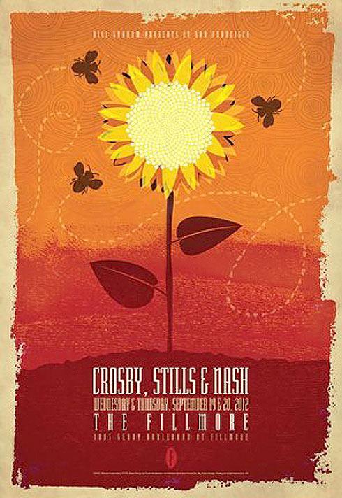 Crosby Stills and Nash New Fillmore Poster F1179