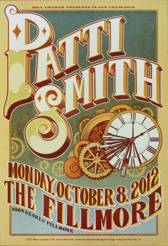 Patti Smith New Fillmore F1184 Poster
