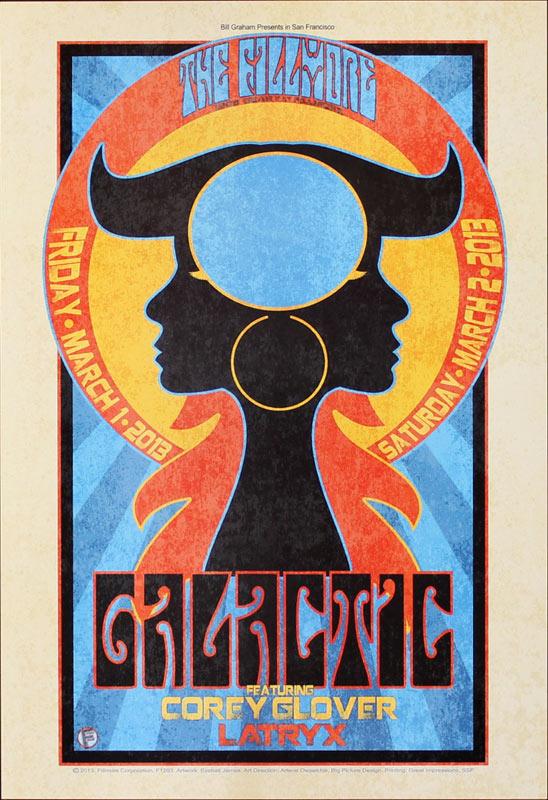 Galactic 2013 Fillmore F1203 Poster