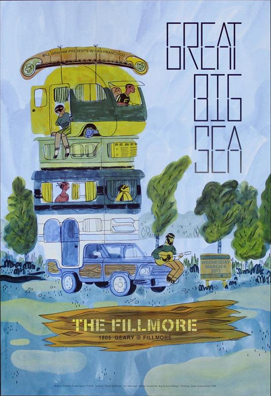 Great Big Sea 2013 Fillmore F1204 Poster