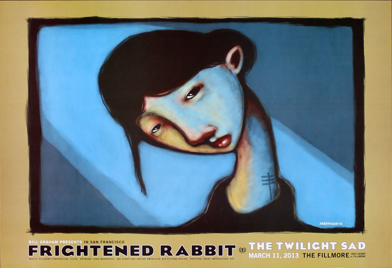Frightened Rabbit 2013 Fillmore F1206 Poster