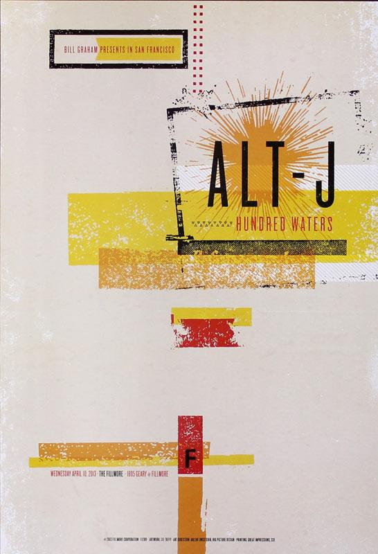 Alt-J 2013 Fillmore F1209 Poster