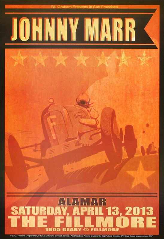 Johnny Marr 2013 Fillmore F1212 Poster