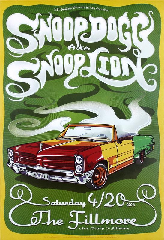 Snoop Dogg (Snoop Lion) New Fillmore Poster F1215
