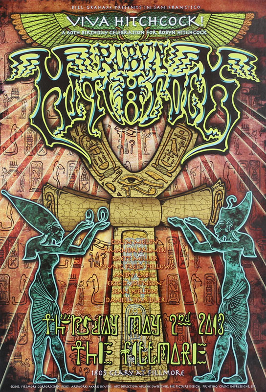 Robyn Hitchcock 2013 Fillmore F1217 Poster
