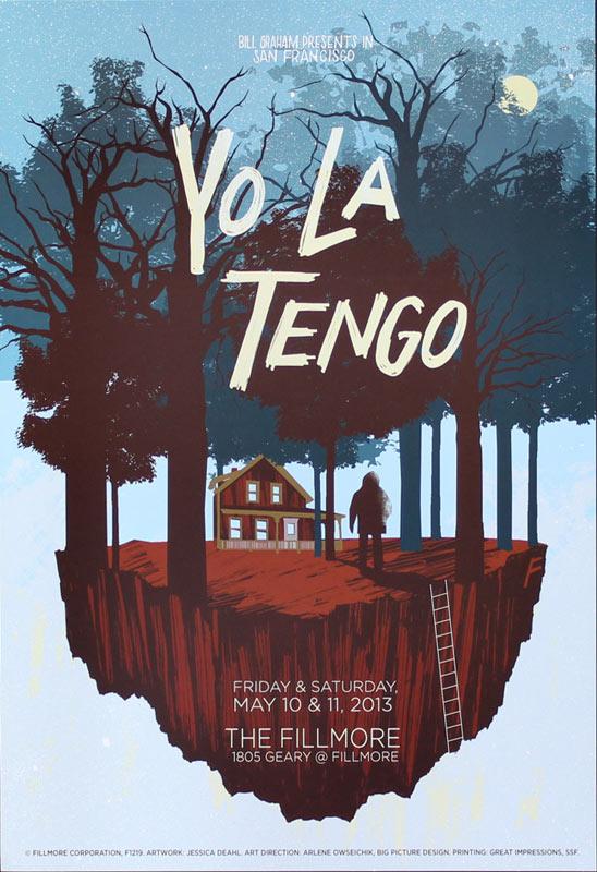 Yo La Tengo 2013 Fillmore F1219 Poster