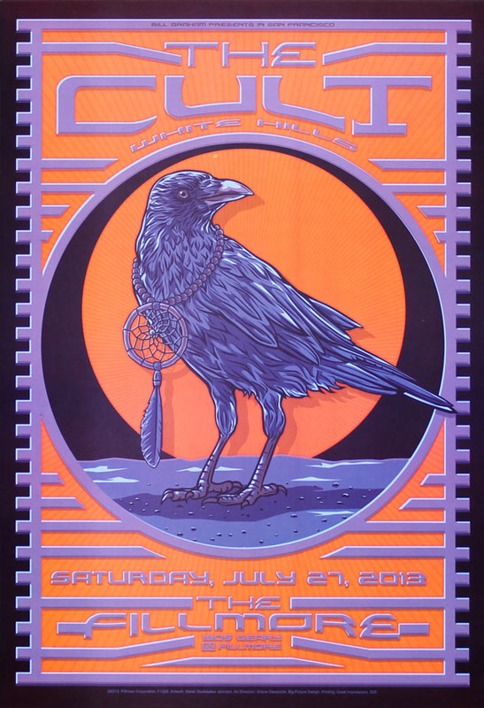 The Cult 2013 Fillmore F1226 Poster